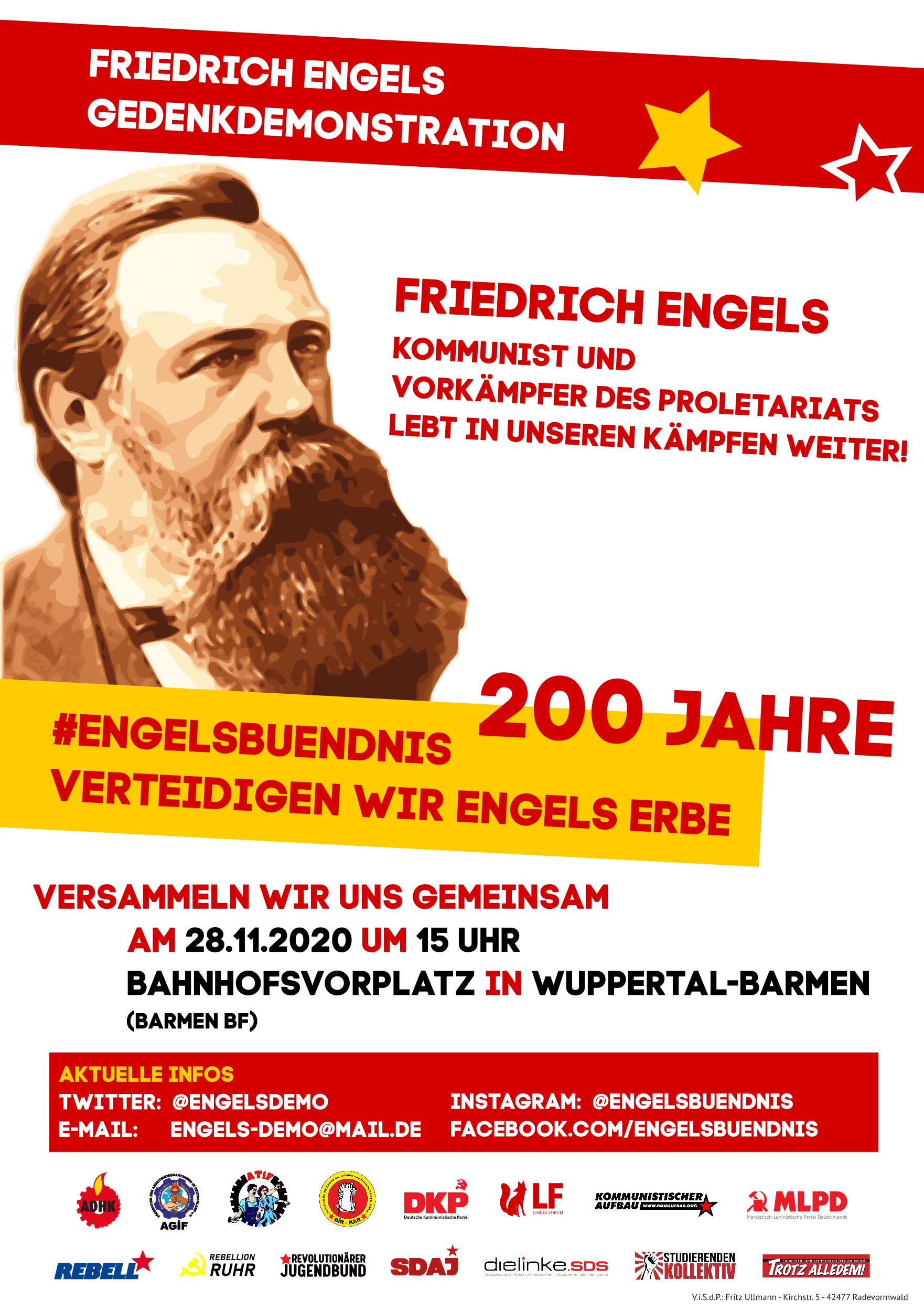 Engels Demo Plakat 2020 November 1762x2500