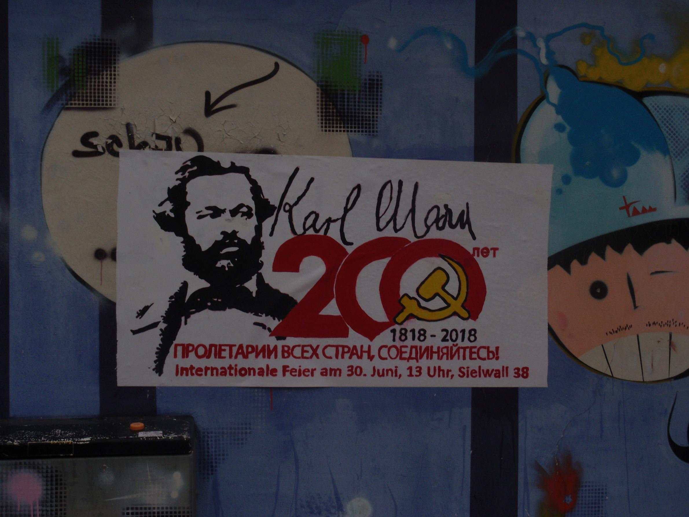 200 jahre karl marx wandzeitung russisch