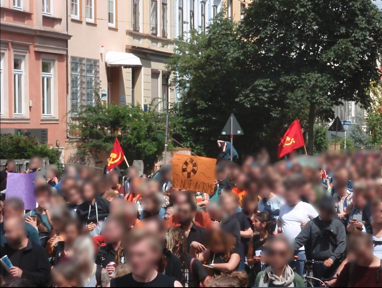 Antifaschistische Demonstration in Bremen 1