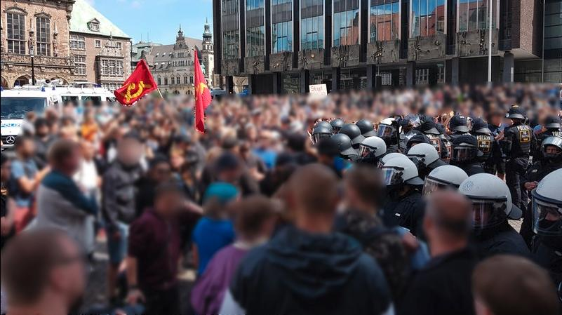 Antifaschistische Demonstration in Bremen 4