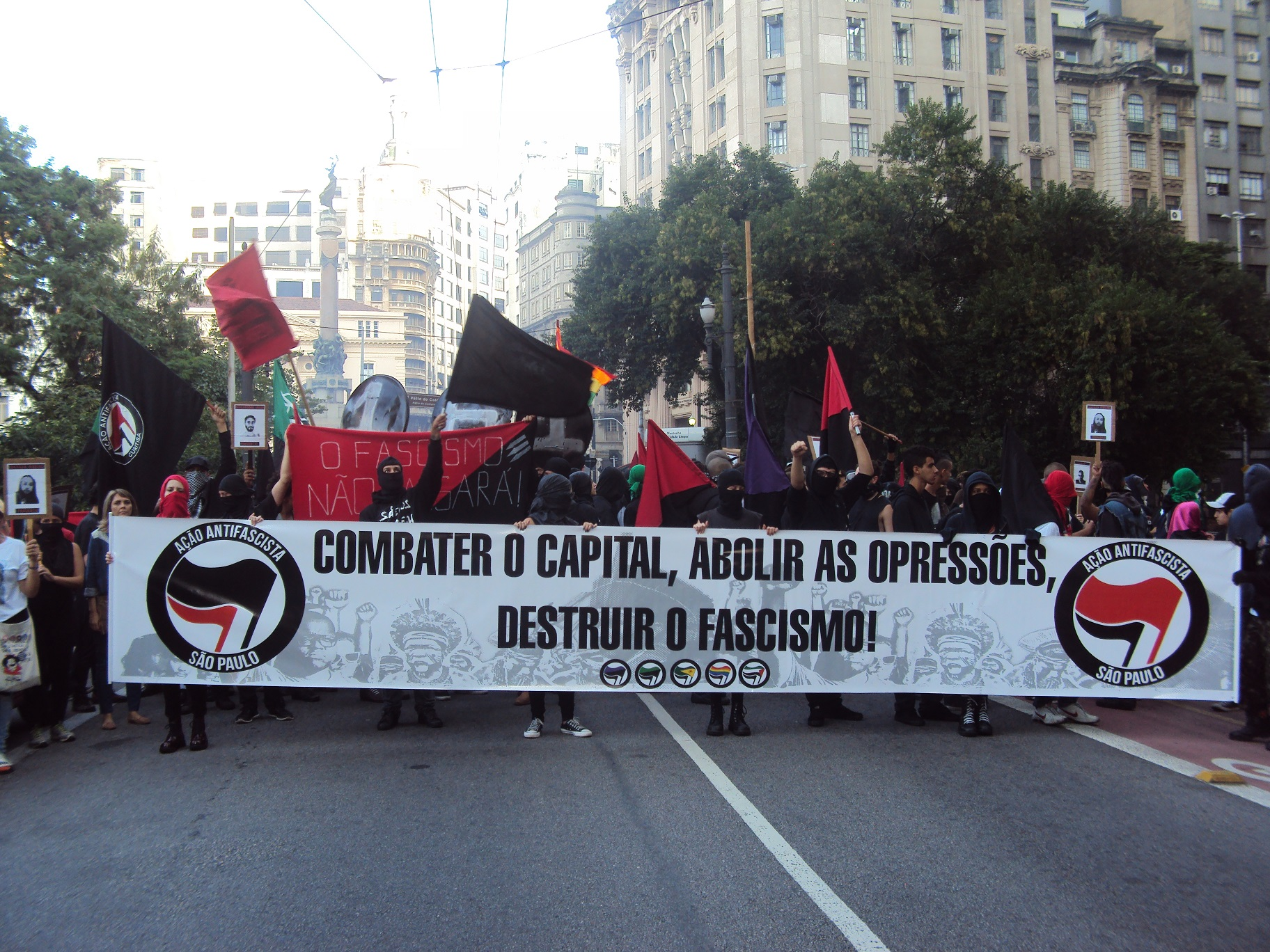 antifschistische demonstration sao paulo