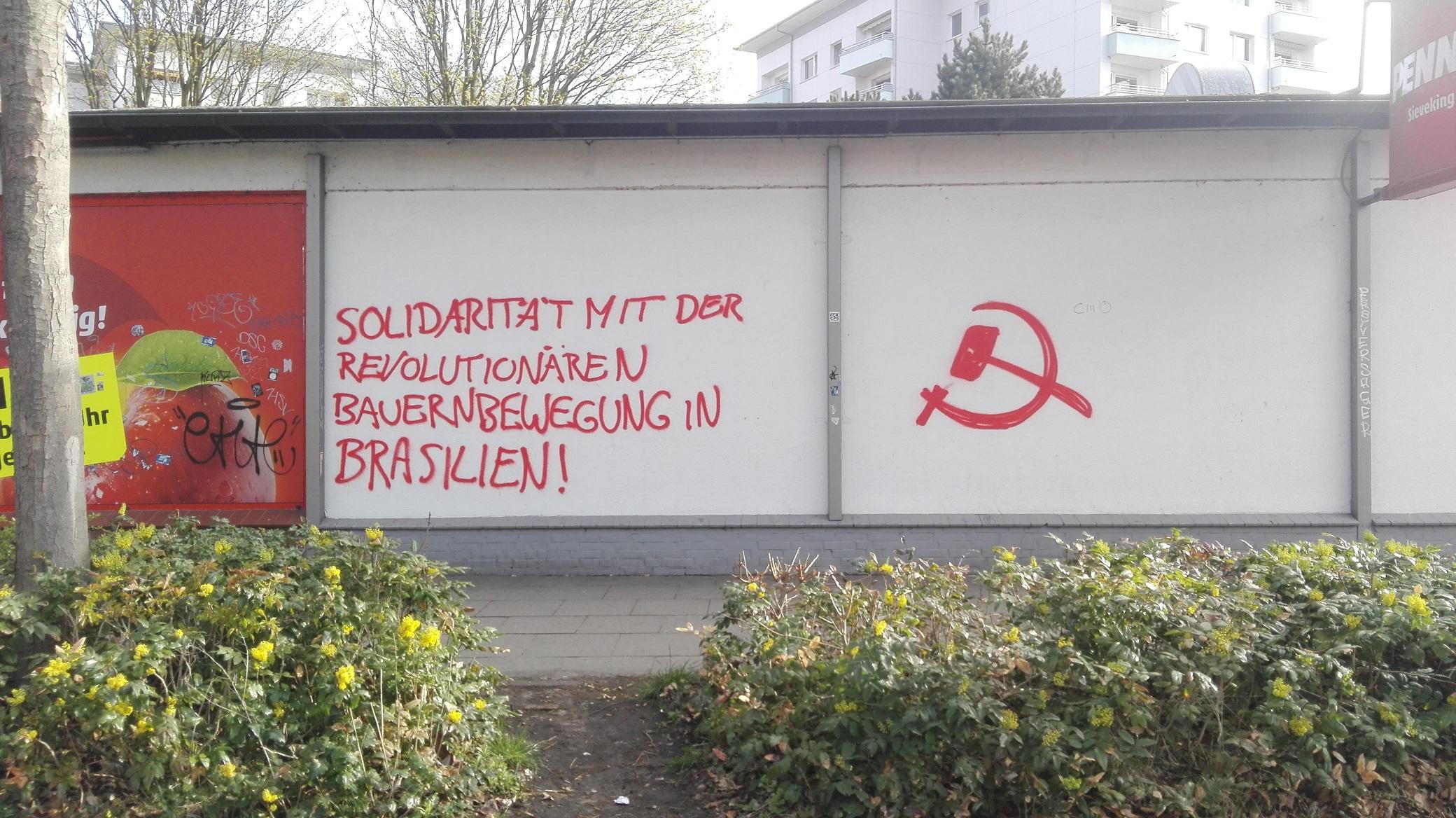 Hamburg Malung für revolutionäre Bauernbewegung in Brasilien 3