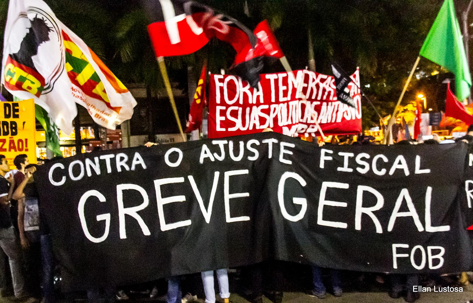 demonstration in rio