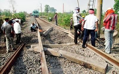 railway track blown maoists20161010125136 l