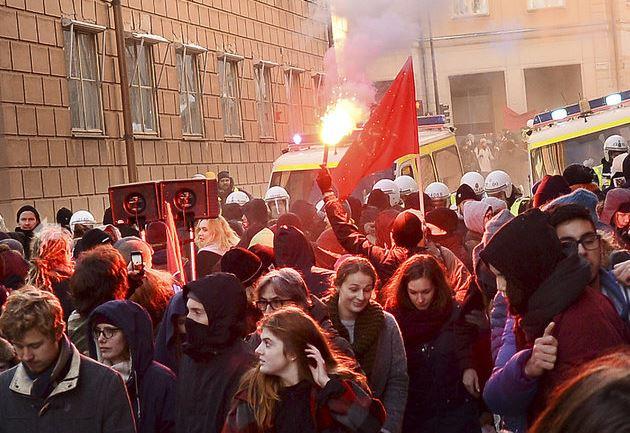 Stockholm Antifa Protest