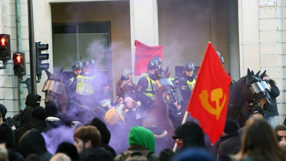 Stockholm Antifa Protest2